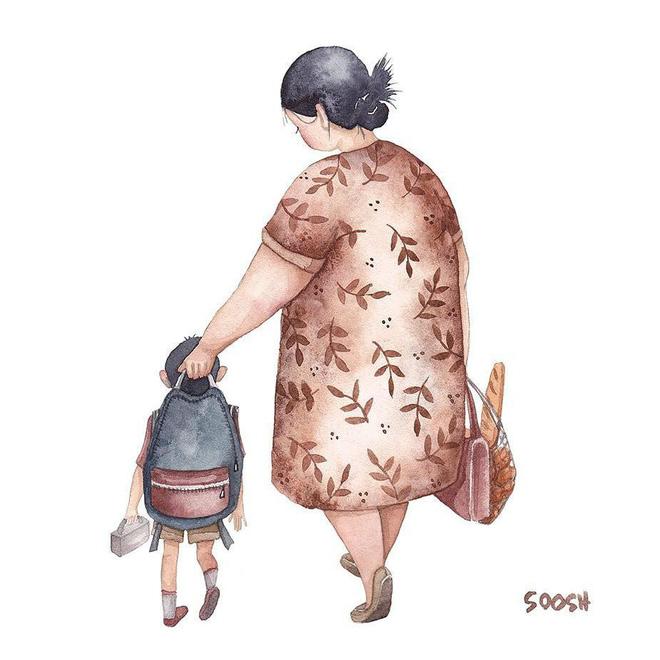 Tan chảy trước bộ tranh một gia đình nhỏ, một hạnh phúc to, ai xem xong cũng ước ao nhà mình được như thế - Ảnh 8.