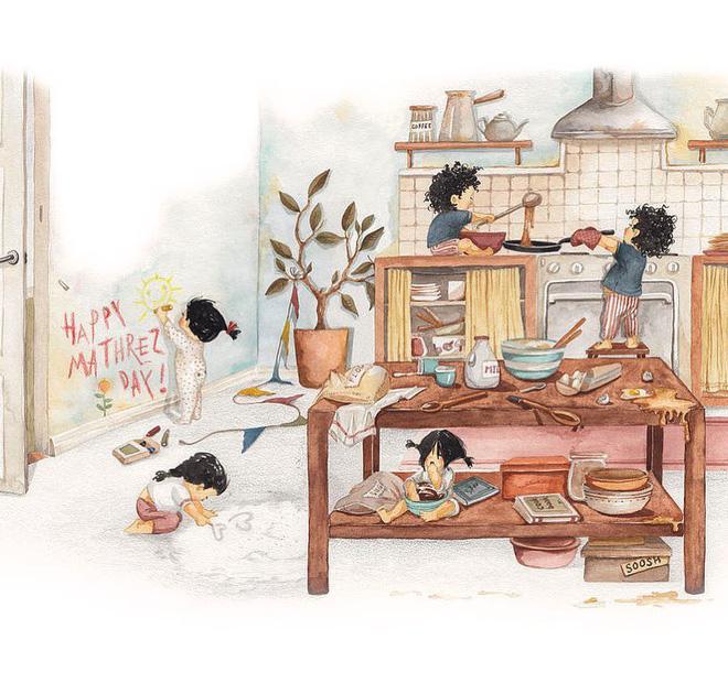 Tan chảy trước bộ tranh một gia đình nhỏ, một hạnh phúc to, ai xem xong cũng ước ao nhà mình được như thế - Ảnh 15.