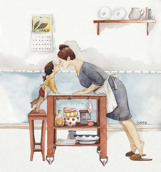 Tan chảy trước bộ tranh một gia đình nhỏ, một hạnh phúc to, ai xem xong cũng ước ao nhà mình được như thế - Ảnh 12.