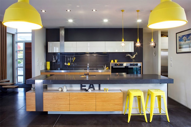 Vàng – gam màu cứu rỗi những căn bếp không có sự xuất hiện của ánh sáng tự nhiên - Ảnh 6.