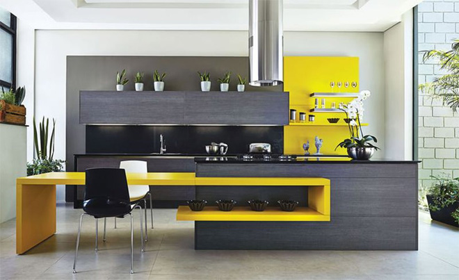 Vàng – gam màu cứu rỗi những căn bếp không có sự xuất hiện của ánh sáng tự nhiên - Ảnh 8.