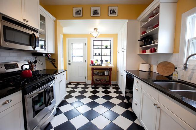 Vàng – gam màu cứu rỗi những căn bếp không có sự xuất hiện của ánh sáng tự nhiên - Ảnh 7.
