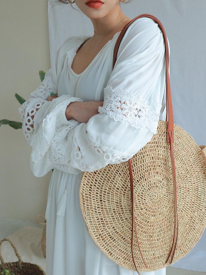 Túi cói năm nay xinh quá, chọn kiểu gì cũng đẹp và tiện hết sức - Ảnh 9.