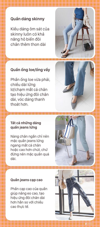 Nàng nào chân ngắn thử ngay mấy dáng quần jeans này, nhìn cao thêm cả chục phân chứ chẳng ít  - Ảnh 5.