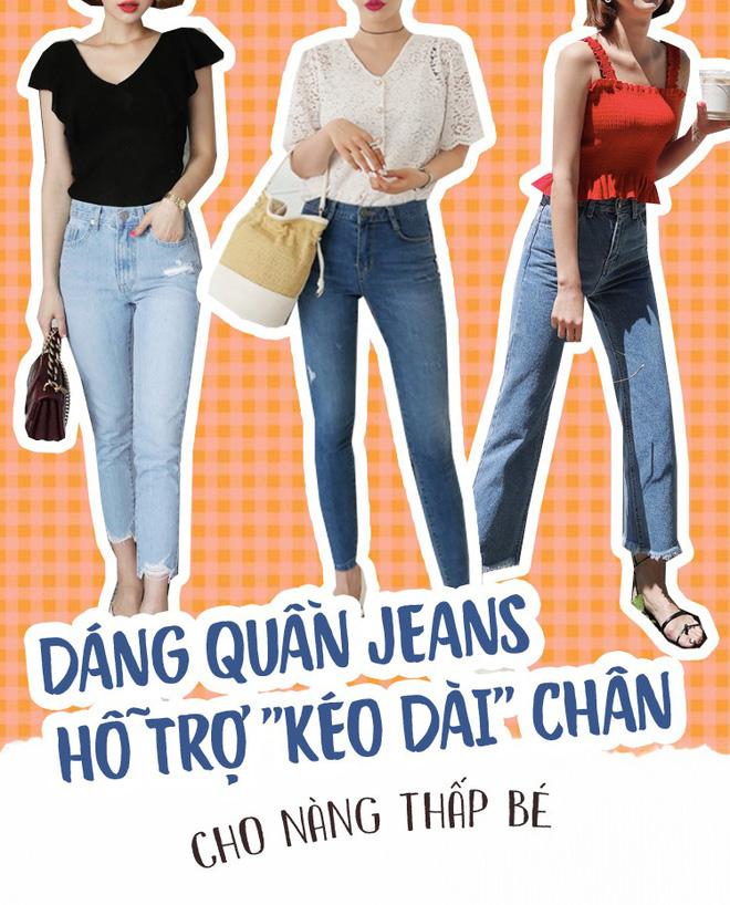 Nàng nào chân ngắn thử ngay mấy dáng quần jeans này, nhìn cao thêm cả chục phân chứ chẳng ít  - Ảnh 4.