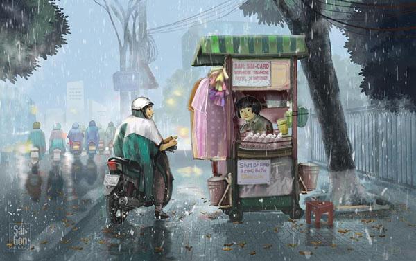 Bộ ảnh 'Sài Gòn có mưa' phiên bản art-project khiến ai cũng phải thốt lên 'Sao mà đẹp thế!' 8