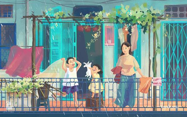 Bộ ảnh 'Sài Gòn có mưa' phiên bản art-project khiến ai cũng phải thốt lên 'Sao mà đẹp thế!' 10