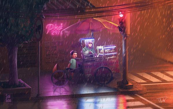 Bộ ảnh 'Sài Gòn có mưa' phiên bản art-project khiến ai cũng phải thốt lên 'Sao mà đẹp thế!' 1