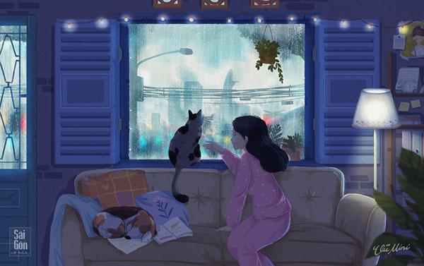 Bộ ảnh 'Sài Gòn có mưa' phiên bản art-project khiến ai cũng phải thốt lên 'Sao mà đẹp thế!' 11
