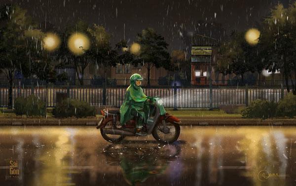 Bộ ảnh 'Sài Gòn có mưa' phiên bản art-project khiến ai cũng phải thốt lên 'Sao mà đẹp thế!' 9