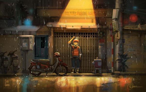 Bộ ảnh 'Sài Gòn có mưa' phiên bản art-project khiến ai cũng phải thốt lên 'Sao mà đẹp thế!' 0