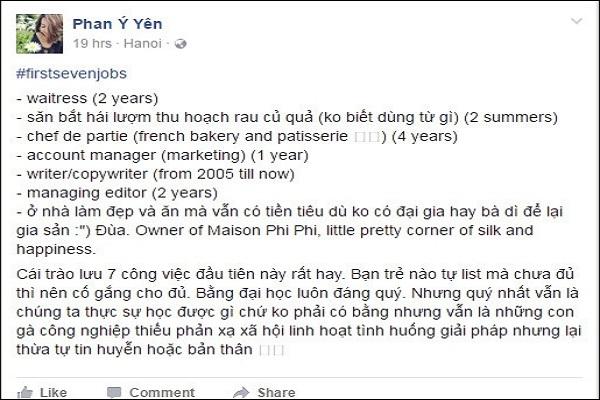 7 công việc trong đời của nhà văn Phan Ý Yên