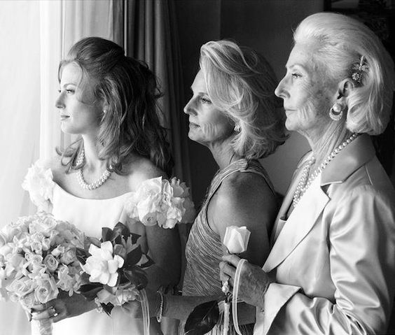 3 generation photo. Bride, mom, grandma. Definitely will do, but with a more loving pose.