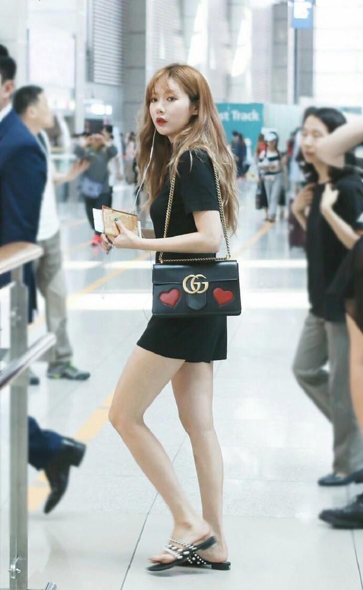 elle việt nam cách chọn giày đến sân bay hyuna