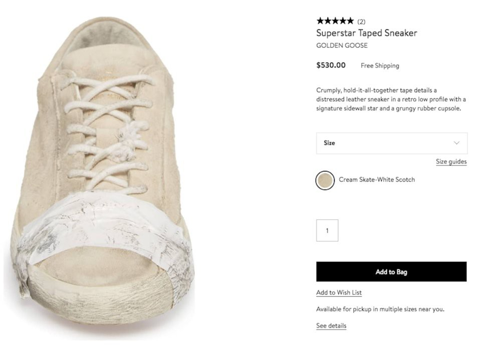 Golden Goose ra sneaker vừa bẩn vừa dán băng dính chằng chịt, cư dân mạng bức xúc: Khác nào chế giễu người nghèo - Ảnh 4.