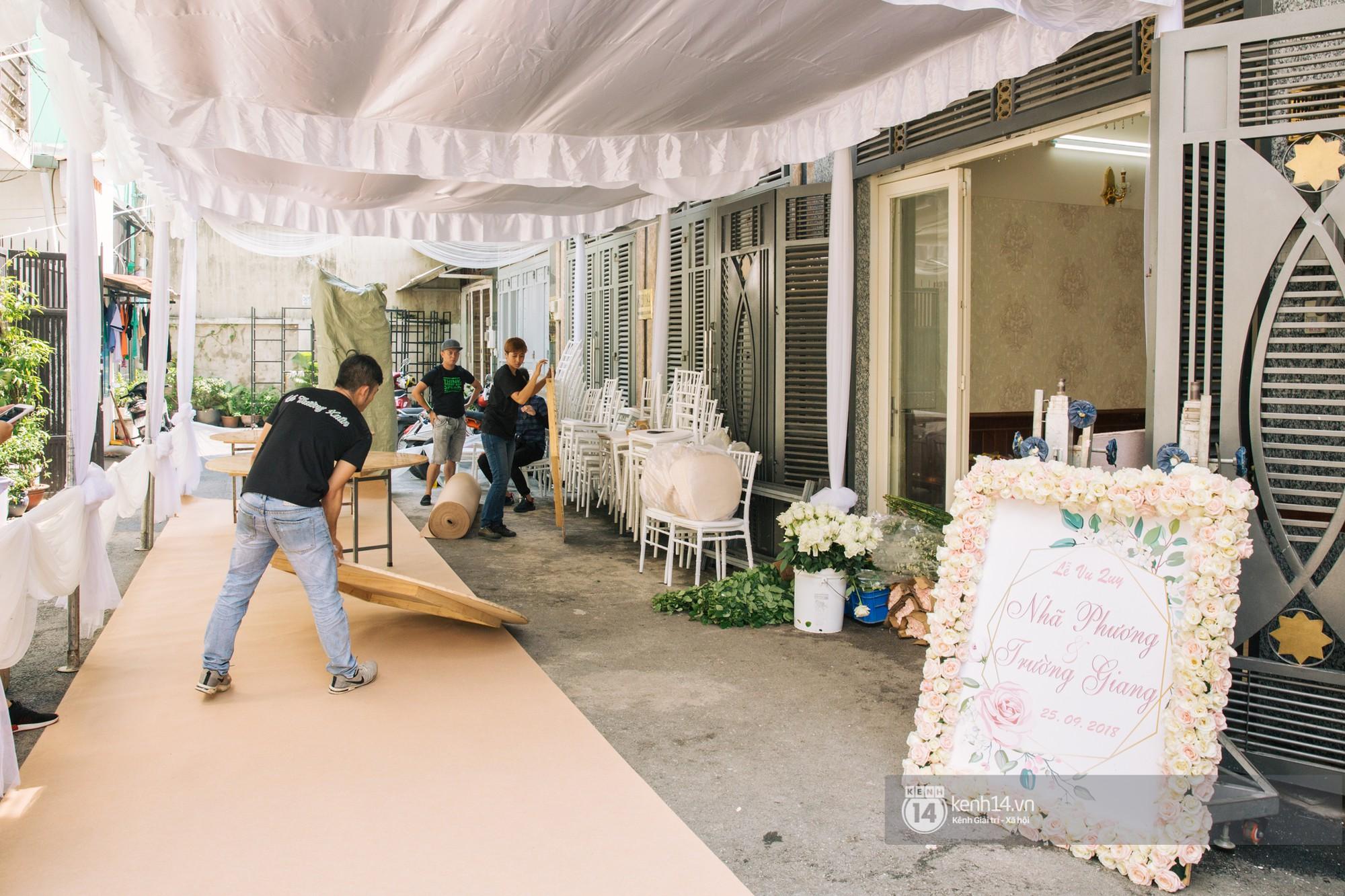 Cưới Trường Giang Nhã Phương: Nhà cô dâu bày trí cho hôn lễ chiều nay - Ảnh 5.