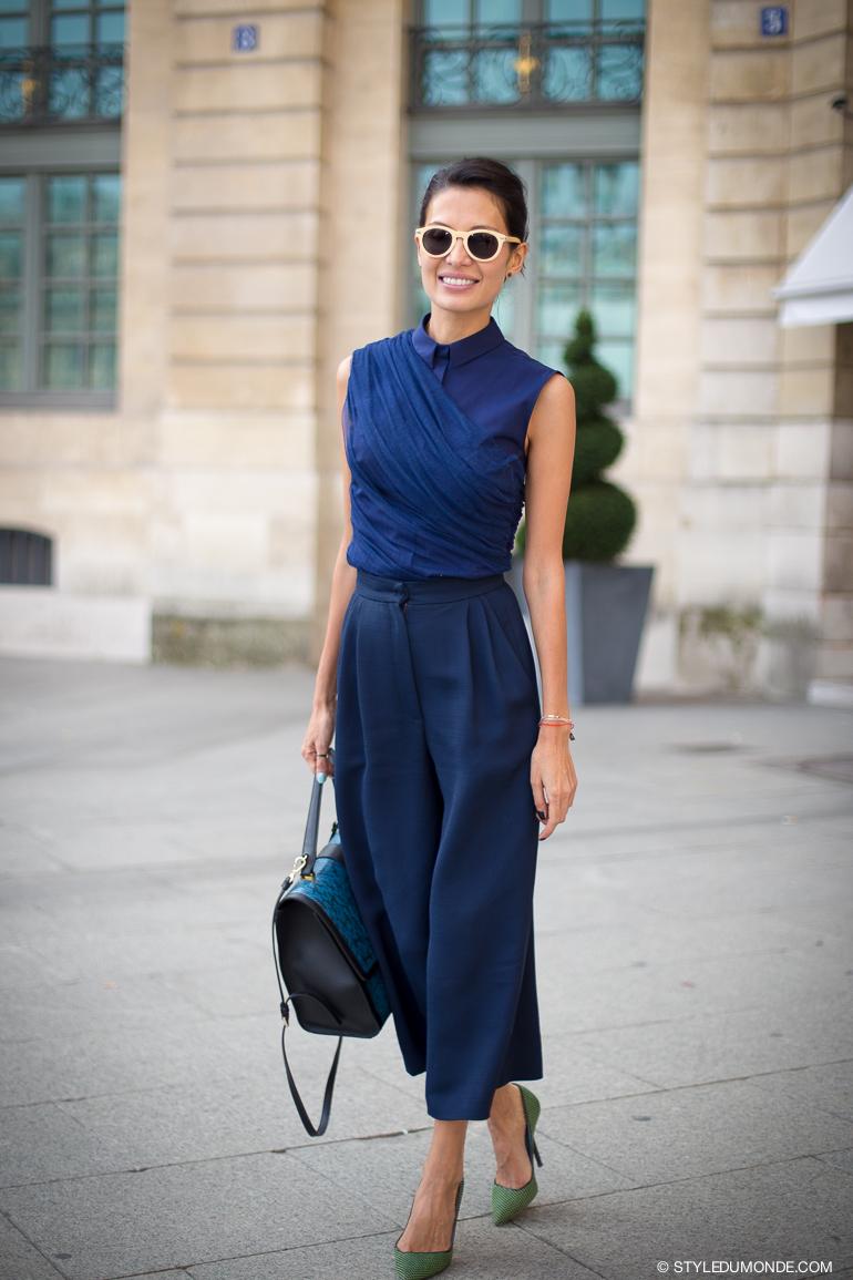 6 Cách mặc đẹp với quần lửng ống rộng elle Vietnam 09
