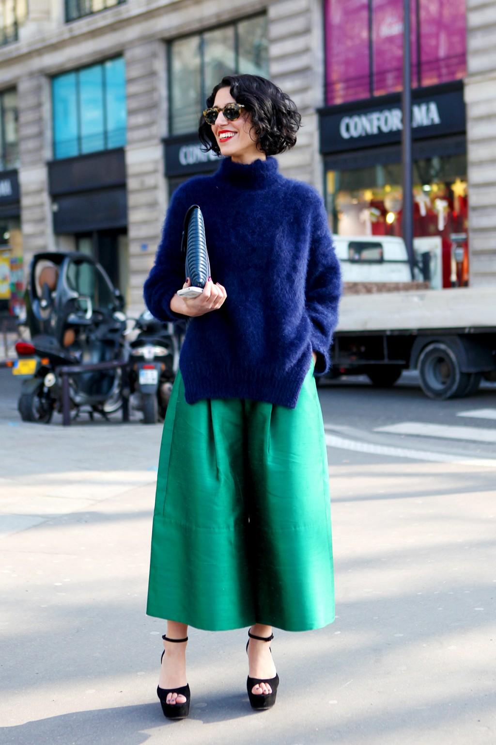 6 Cách mặc đẹp với quần lửng ống rộng elle Vietnam 23