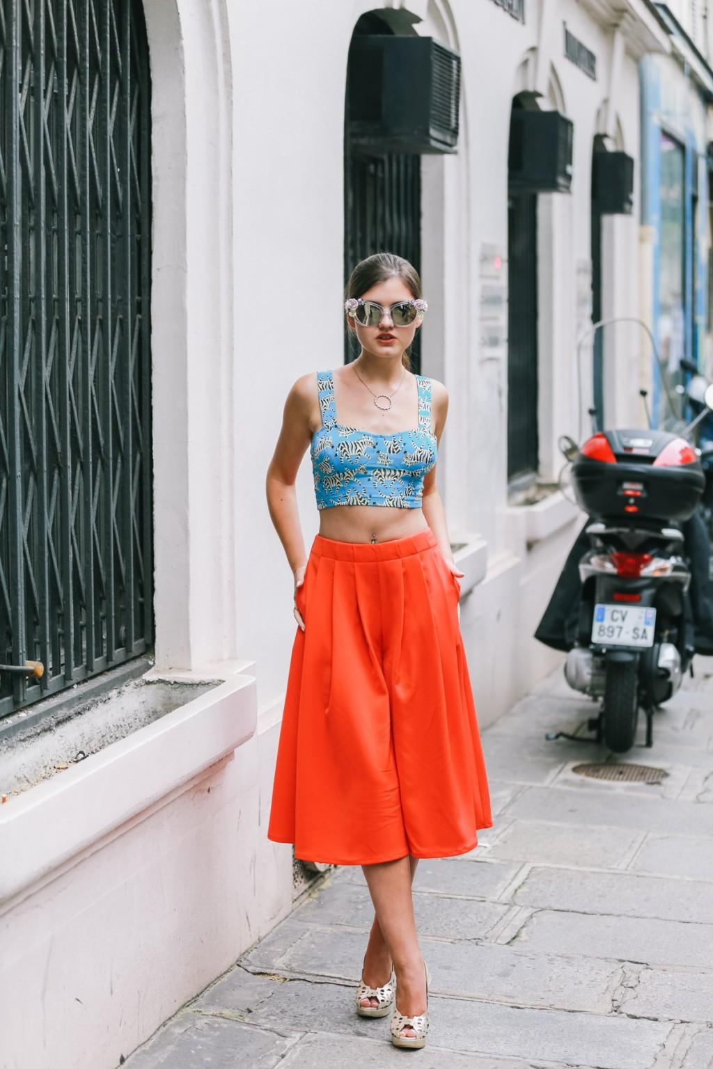 6 Cách mặc đẹp với quần lửng ống rộng elle Vietnam 21
