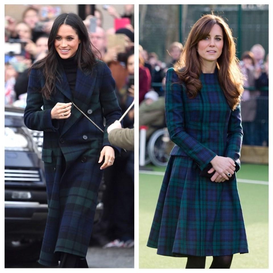 Chẳng tỏ ra ganh đua hay copy, thế mà Công nương Meghan và Kate lắm khi giống hệt hai chị em song sinh - Ảnh 8.
