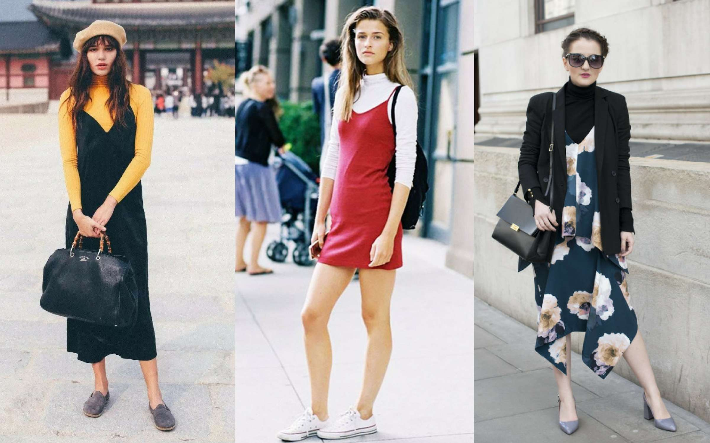 Áo cổ lọ và váy slip dress 19