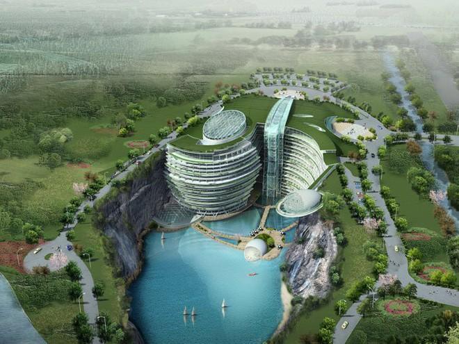 Sau 10 năm xây dựng, khách sạn với 16/18 tầng nằm dưới mặt đất chuẩn bị khai trương, giá từ 11,3 triệu/1 đêm - Ảnh 1.