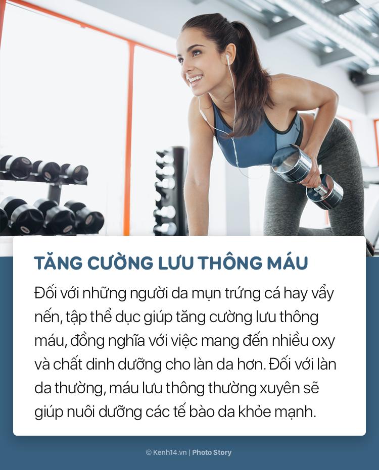 Tập thể dục không chỉ giúp giảm cân, giữ dáng, nâng cao sức khỏe mà còn làm đẹp da bởi những lí do này - Ảnh 3.