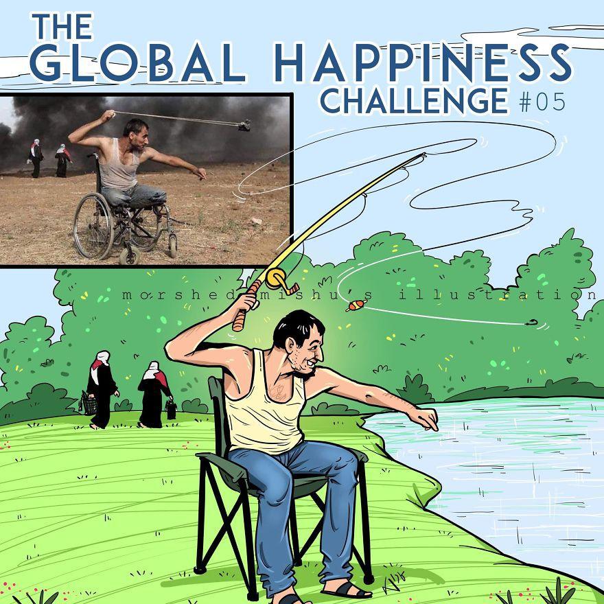 Lặng người xem những bức vẽ về hạnh phúc, được tái hiện từ cuộc sống tan thương ở Syria - Ảnh 10.
