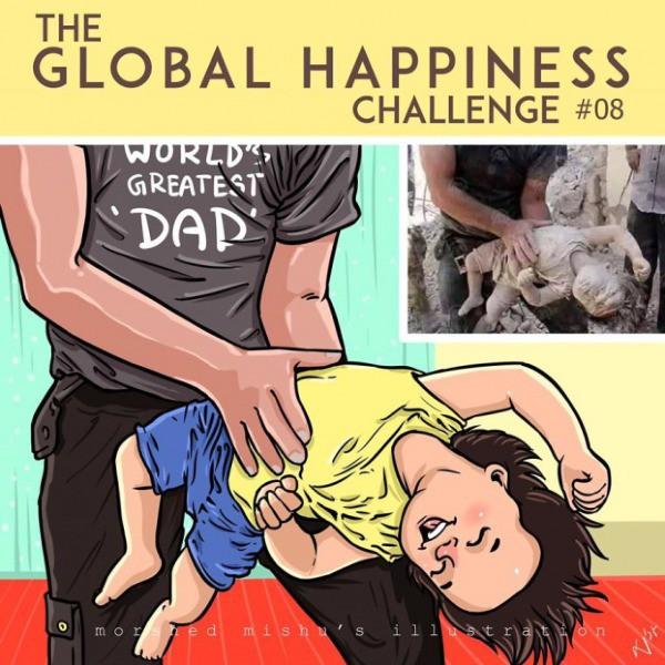 Lặng người xem những bức vẽ về hạnh phúc, được tái hiện từ cuộc sống tan thương ở Syria - Ảnh 16.
