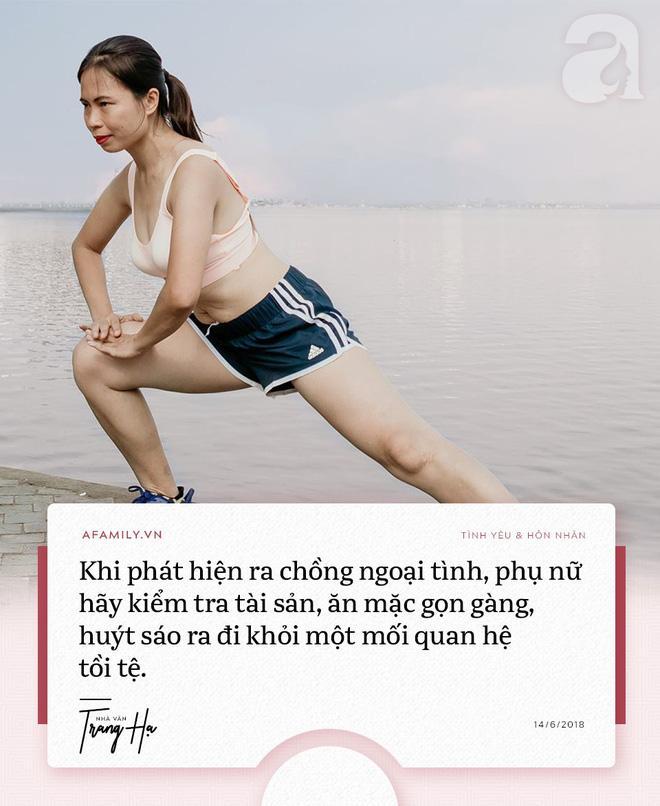 Trang Hạ: 'Khi phát hiện chồng ngoại tình, phụ nữ hãy kiểm tra tài sản, huýt sáo và ra khỏi cuộc hôn nhân tồi tệ' - Ảnh 1