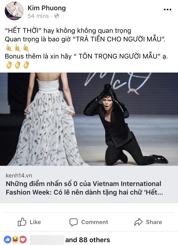 Vietnam International Fashion Week tiếp tục bị loạt người mẫu tố chậm tiền: Thu/Đông đã qua mà catxe mùa Xuân/Hè vẫn chưa thấy! - Ảnh 2.
