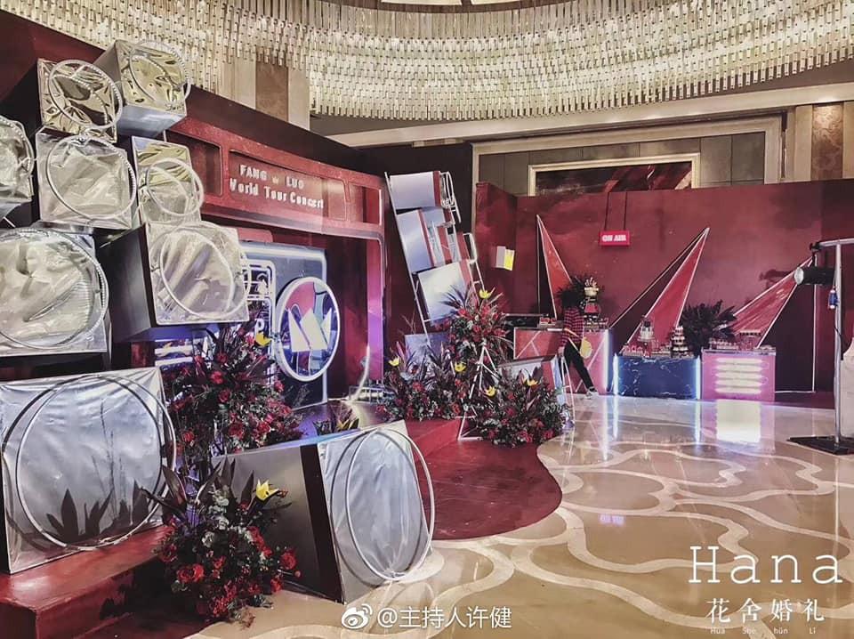Khi cô dâu và chú rể đều là fan Big Bang: Sân khấu ngập tràn sắc đỏ, hoa cưới cũng chính là lightstick - Ảnh 6.