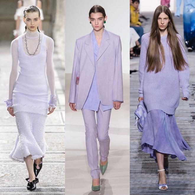 Sắc tím làthống trị các sàn thời trang năm 2018