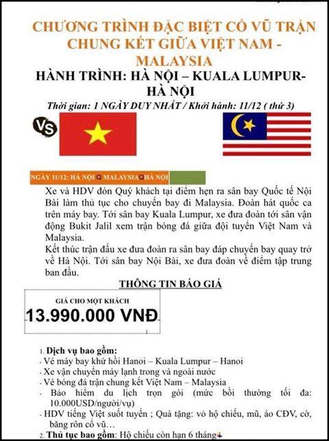 Tiên tri Malaysia thua trận, nhiều công ty mở bán tour cho người hâm mộ xem chung kết AFF Cup 2018 tại... Thái Lan - Ảnh 8.