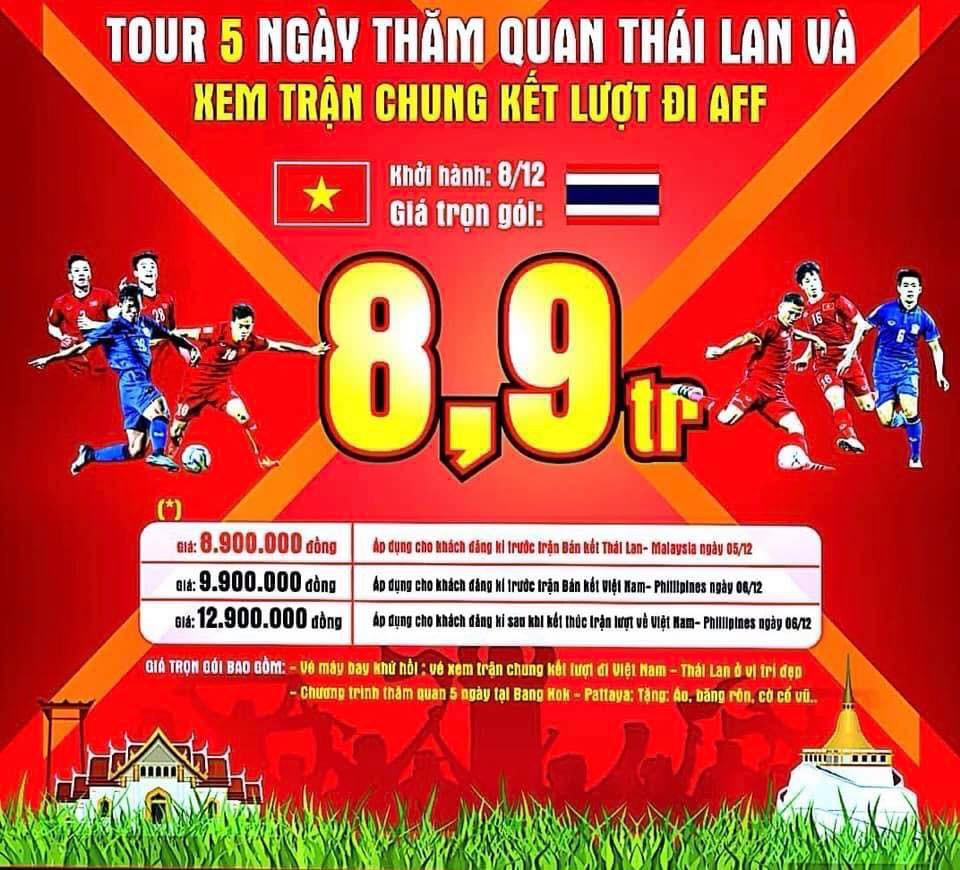 Tiên tri Malaysia thua trận, nhiều công ty mở bán tour cho người hâm mộ xem chung kết AFF Cup 2018 tại... Thái Lan - Ảnh 5.