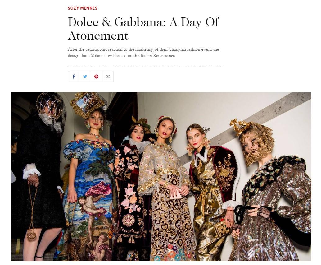BTV kì cựu của Vogue phải lên tiếng xin lỗi sau bài viết về Dolce & Gabbana do scandal tại Trung Quốc - Ảnh 2.