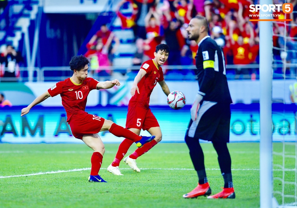 Công Phượng đã có pha ghi bàn ở phút thứ 51, qua đó cân bằng tỉ số cho tuyển Việt Nam.