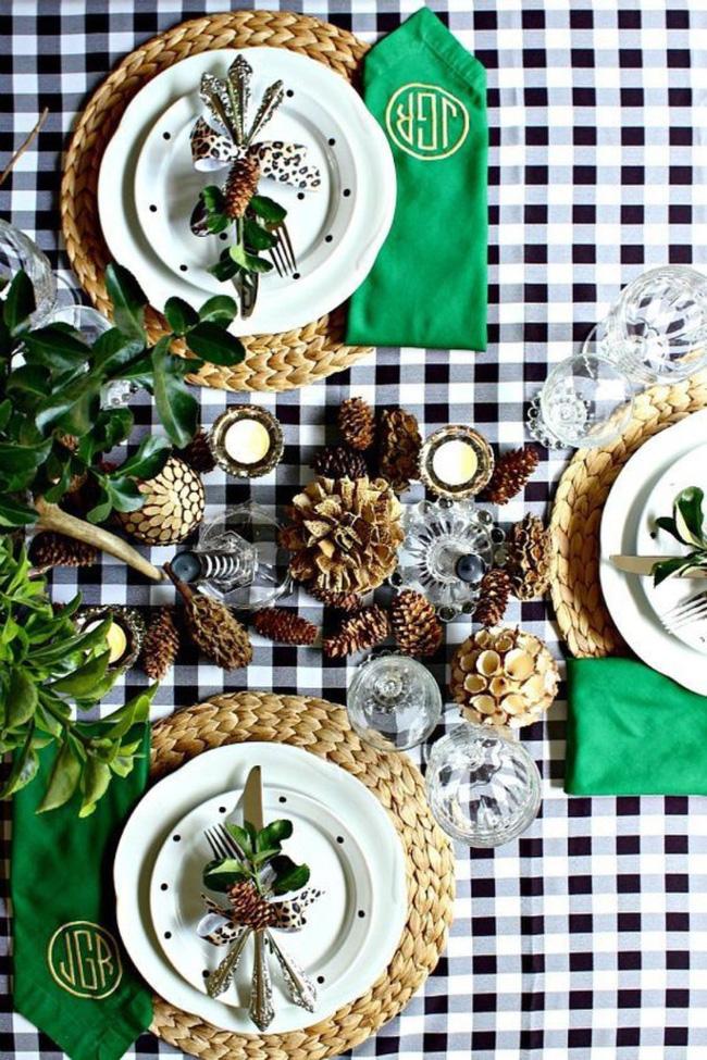 25 ý tưởng trang trí bàn ăn siêu xinh để đón Tết từ những vật dụng có sẵn xung quanh - Ảnh 12.
