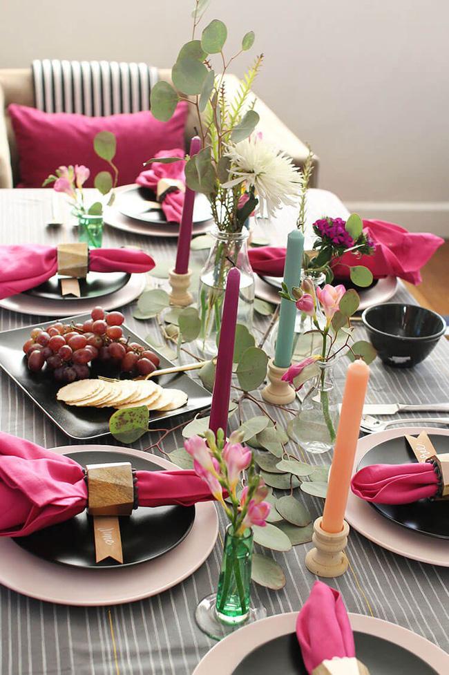 25 ý tưởng trang trí bàn ăn siêu xinh để đón Tết từ những vật dụng có sẵn xung quanh - Ảnh 11.