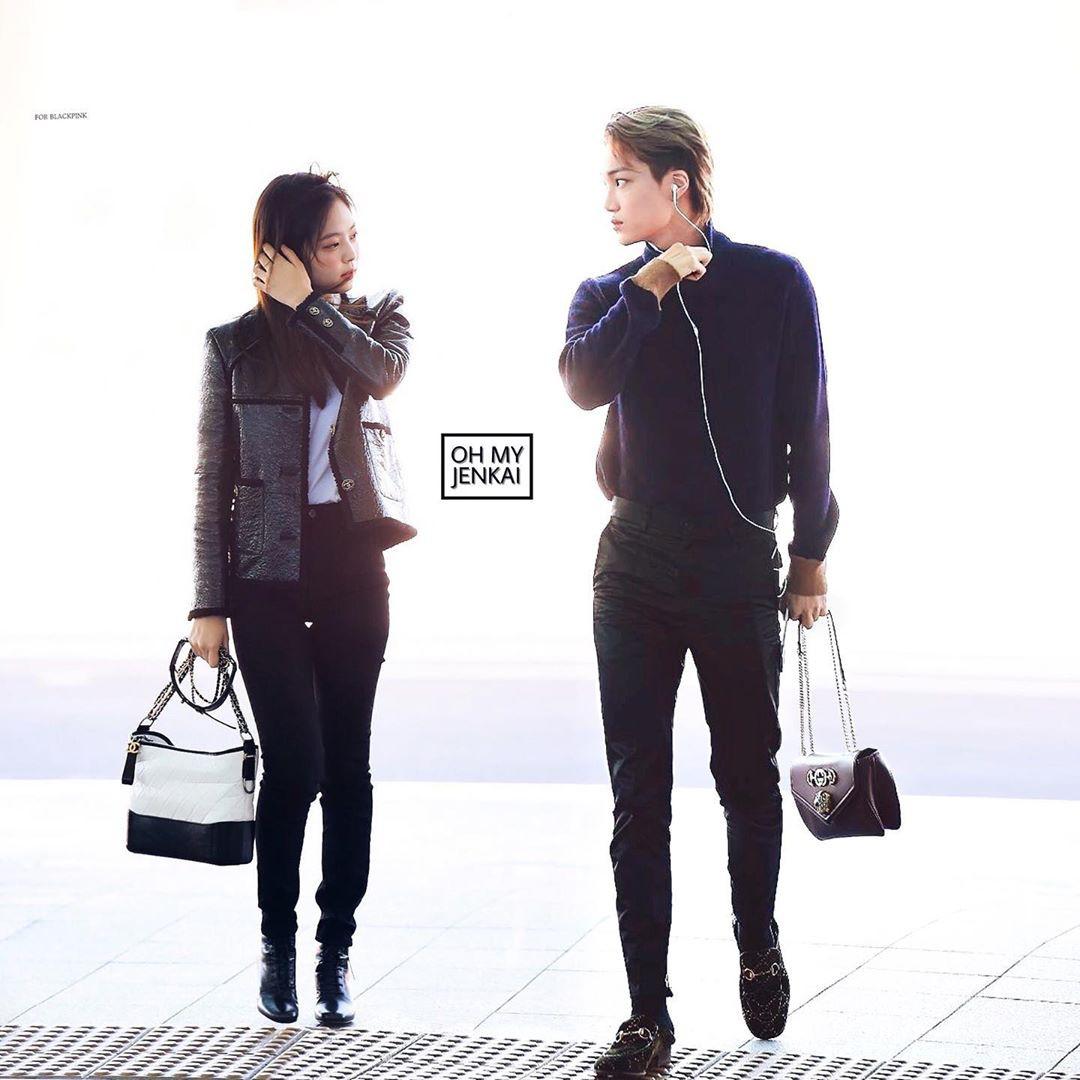 """Jennie và Kai trong loạt ảnh """"ảo tưởng"""" khiến fan tiếc hùi hụi: đẹp đôi, phong cách chất ngất quá đỗi tương đồng - Ảnh 5."""
