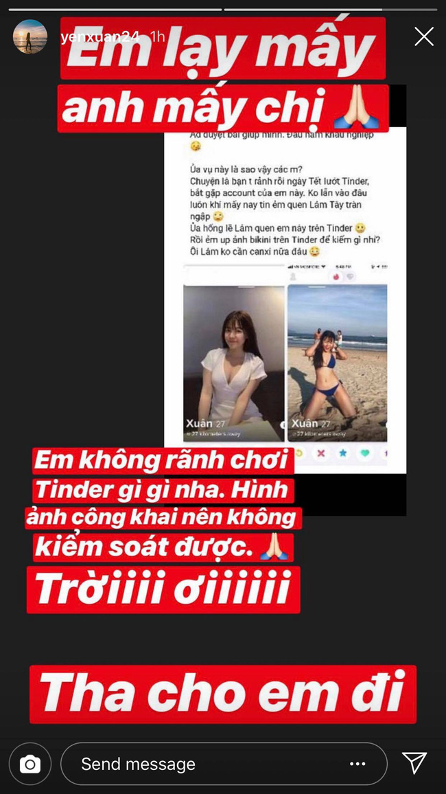 """Lướt app hẹn hò gặp bạn gái Lâm Tây, đây là cách Yến Xuân phản ứng khi mang tiếng """"đứng núi này trông núi nọ"""" - Ảnh 3."""