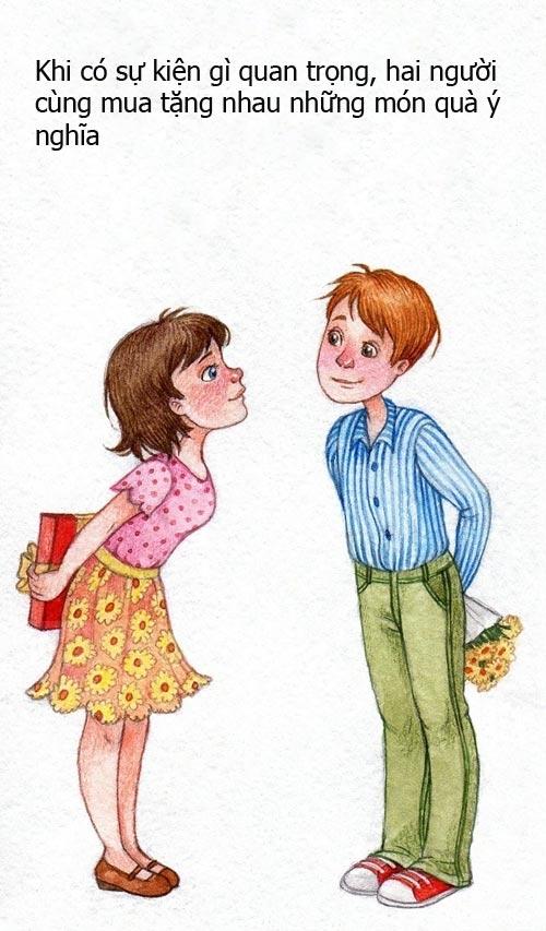 Không cần những món quà đắt tiền, chỉ đơn giản là một bó hoa, một chiếc áo cũng cho thấy sự quan tâm của hai người dành cho nhau.