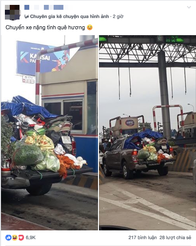 Hình ảnh chuyến xe chở cả quê hương quay lại Thủ đô sau kỉ nghỉ Tết Nguyên Đán Kỷ Hợi khiến nhiều người bật cười - Ảnh 1.