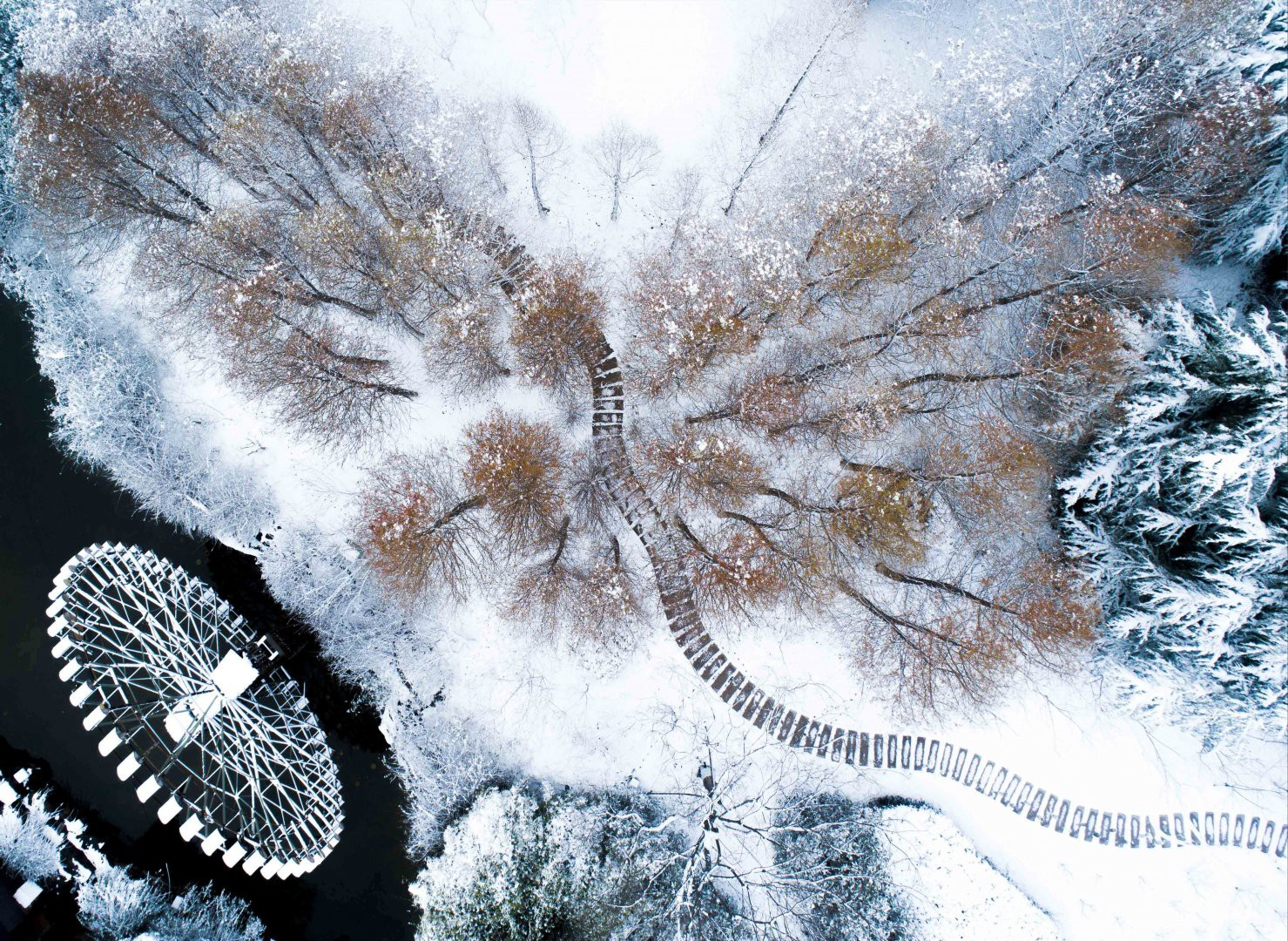 Vẻ đẹp trong trẻo của tuyết mùa xuân ở Trung Quốc khiến nhiều tín đồ du lịch cuồng chân dù đã hết Tết - Ảnh 1.
