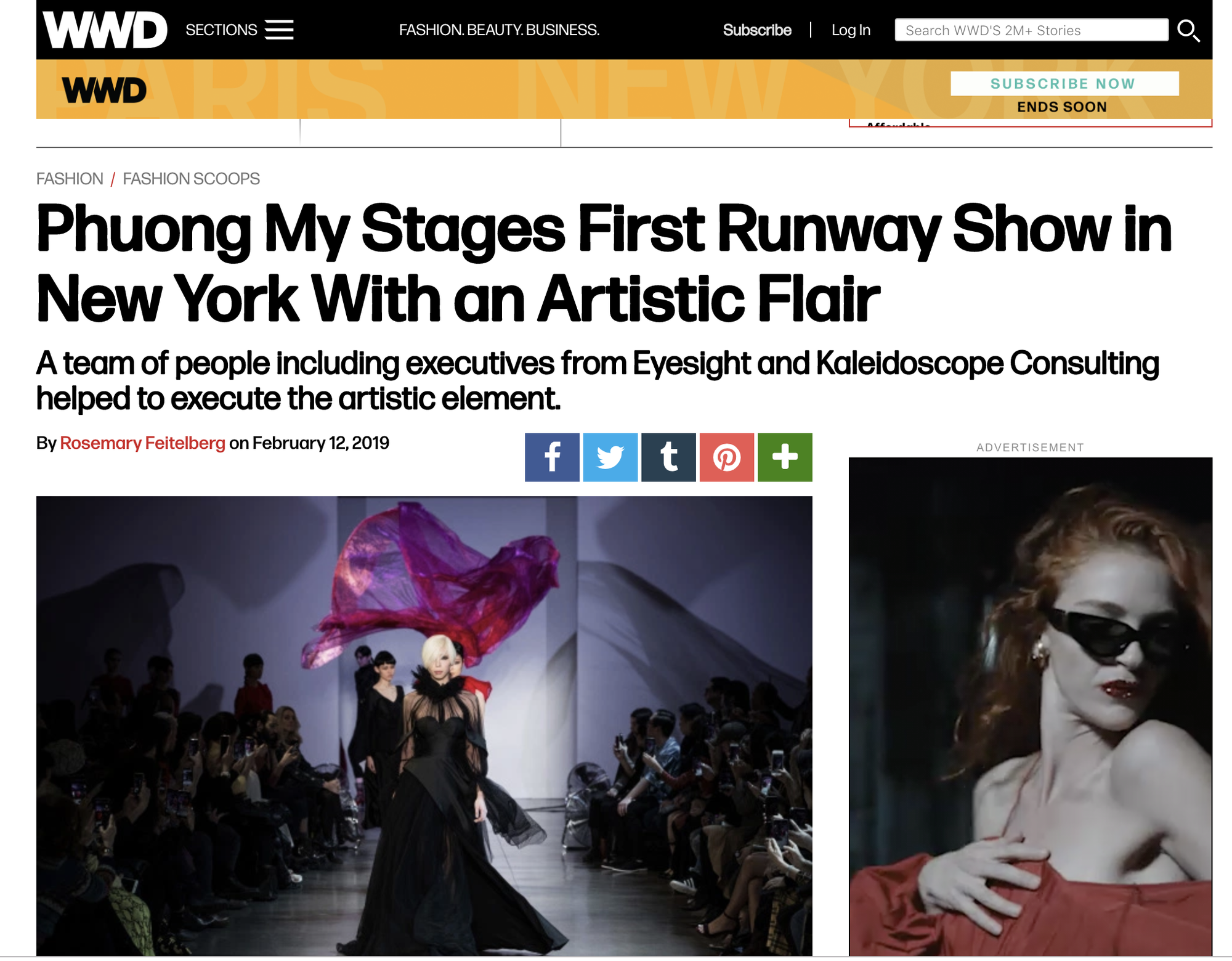 VOGUE Mỹ, VOGUE Tây Ban Nha và hàng loạt tạp chí thời trang thế giới đồng loạt đưa tin về show diễn PHUONG MY tại NYFW - Ảnh 3.