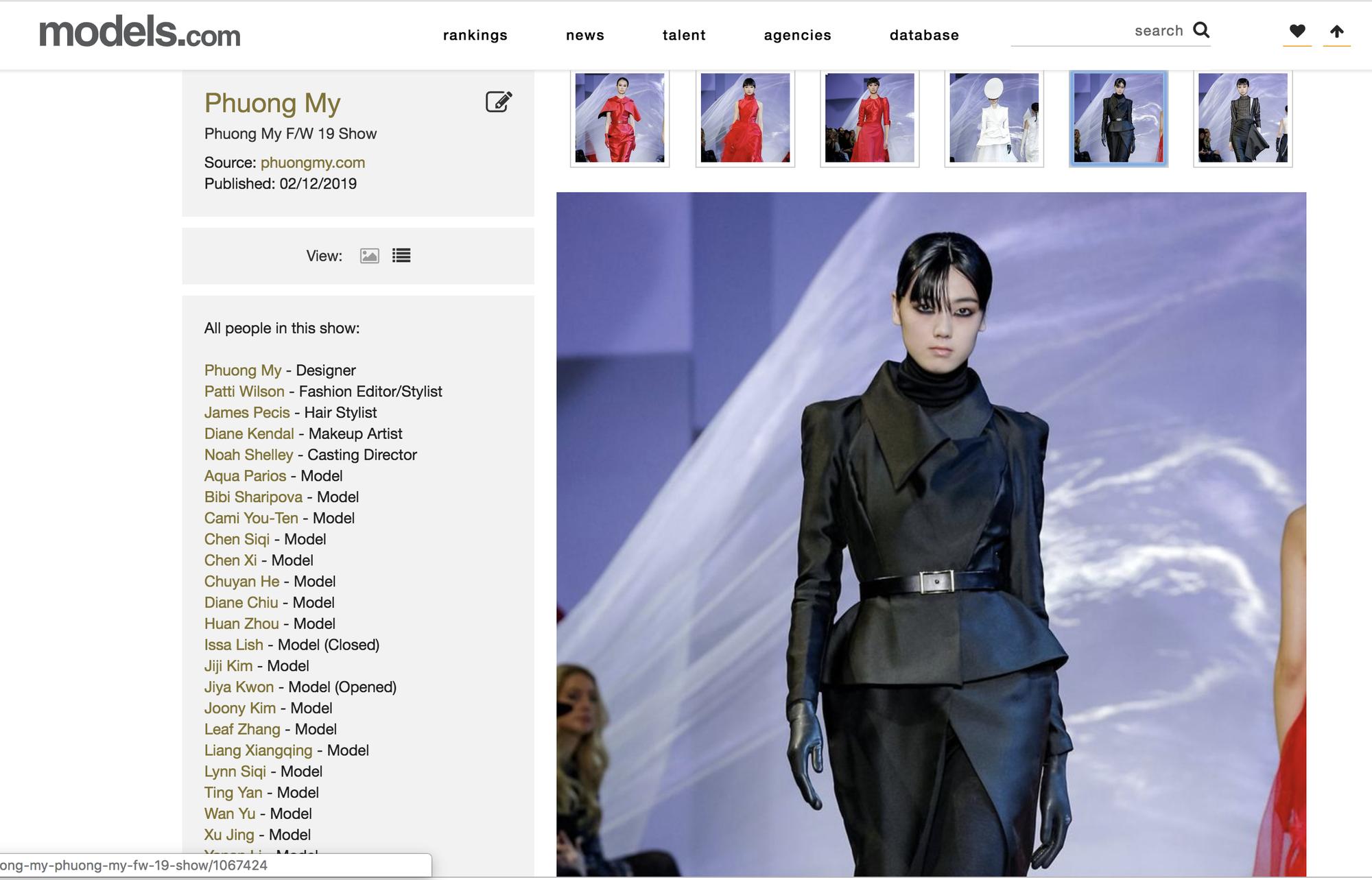 VOGUE Mỹ, VOGUE Tây Ban Nha và hàng loạt tạp chí thời trang thế giới đồng loạt đưa tin về show diễn PHUONG MY tại NYFW - Ảnh 5.