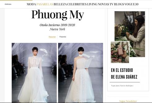 VOGUE Mỹ, VOGUE Tây Ban Nha và hàng loạt tạp chí thời trang thế giới đồng loạt đưa tin về show diễn PHUONG MY tại NYFW - Ảnh 2.
