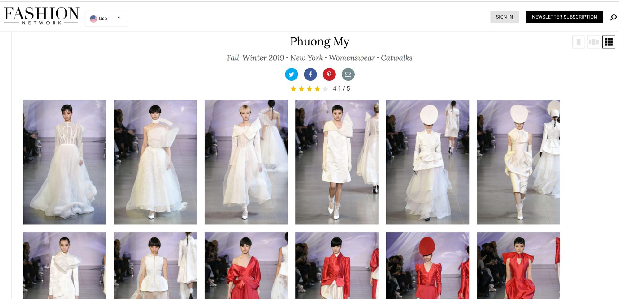 VOGUE Mỹ, VOGUE Tây Ban Nha và hàng loạt tạp chí thời trang thế giới đồng loạt đưa tin về show diễn PHUONG MY tại NYFW - Ảnh 8.