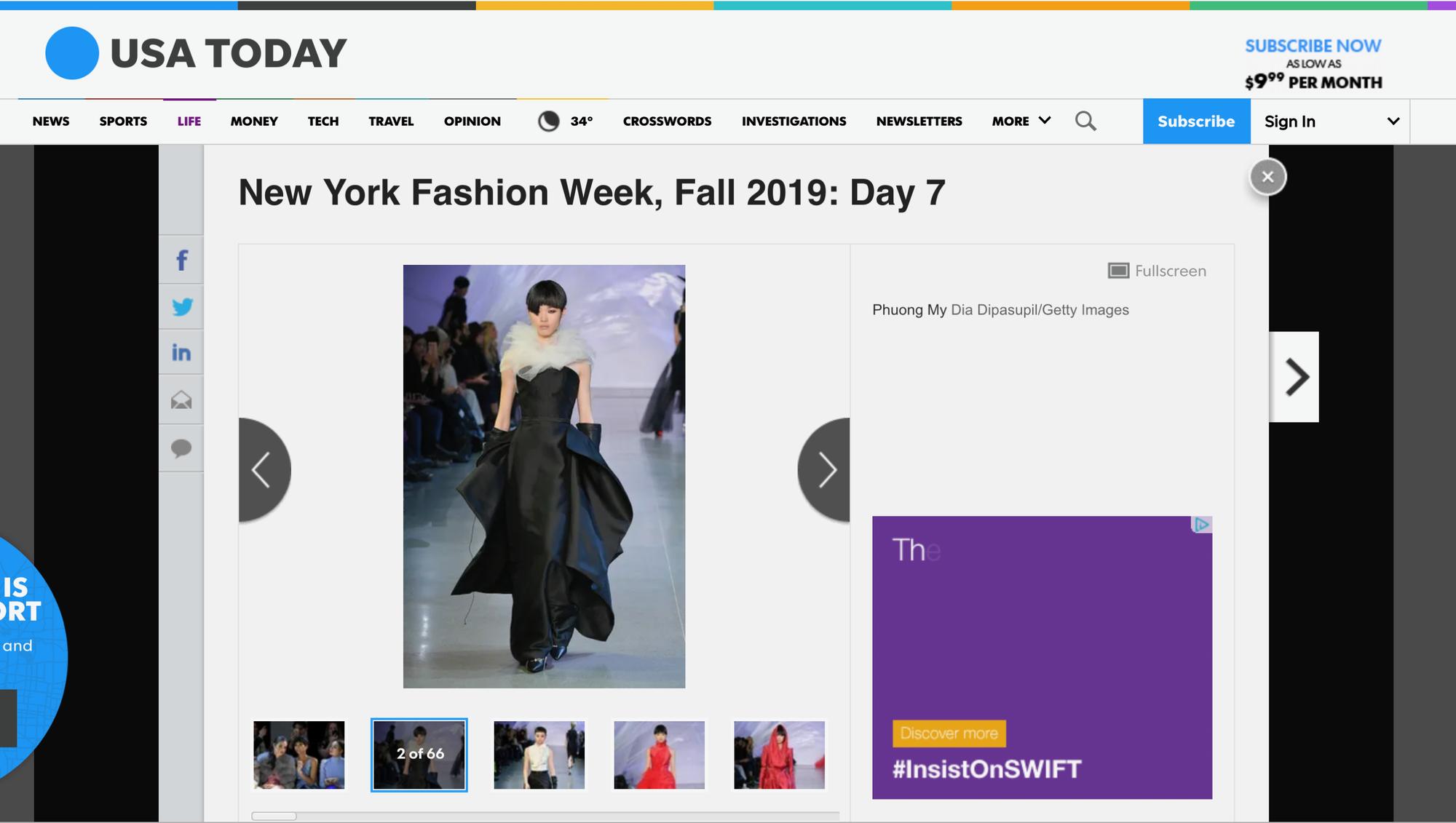 VOGUE Mỹ, VOGUE Tây Ban Nha và hàng loạt tạp chí thời trang thế giới đồng loạt đưa tin về show diễn PHUONG MY tại NYFW - Ảnh 6.