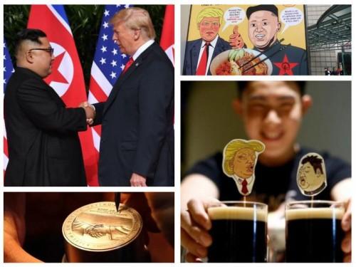 Người dân Singapore hốt bạc nhờ những cách sáng tạo ăn theo Hội nghị Thượng đỉnh Mỹ-Triều - Ảnh 1.